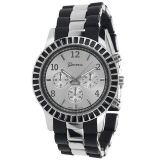 Geneva Platinum Women's Chronograph Link Watch