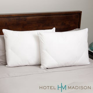Hotel Madison 300 Thread Count Open Diamond Down Alternative Pillows (Set of 2)
