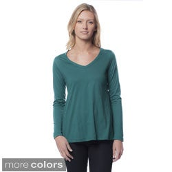 AtoZ Women's Long Sleeve Flaired Top