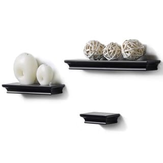 Classic Black Accent Ledge Shelves (Set of 3)