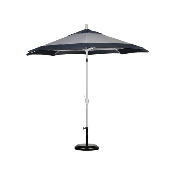 two tone white slate blue 9 foot patio umbrella and stand overstock