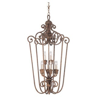 Highlands 9-light Regal Bronze Decorative Foyer Pendant