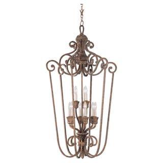 Highlands 9-light Regal Bronze Decorative Foyer Pendant