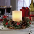 Order Small Wreath with LED Flameless Candle