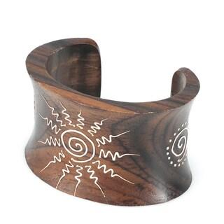 Eco Friendly Wood Sunburst Bracelet (India)