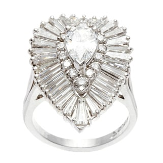 Platinum 5 1/4ct TDW Diamond Ballerina Estate Ring (E-F, VVS1-VVS2)