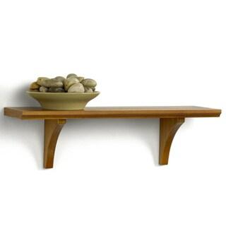 Mission Style Honey Oak Finish Shelf