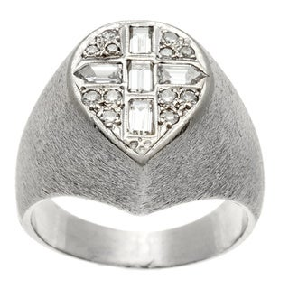 14k White Gold Men's 3/4ct TDW Diamond Estate Ring (J-K, SI1-SI2)
