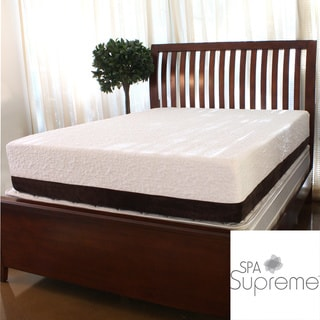Spa Supreme 12-Inch Twin-Size Gel Memory Foam Mattress