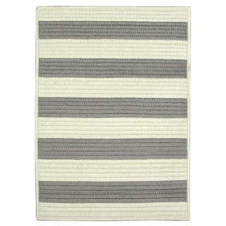 Nautical Stripe Grey Braided Rug (8'x11')