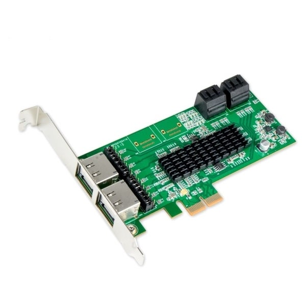 IOCrest PCI-E 2 Interface 8-Port SATAController Card with 88SE9705 Chipset