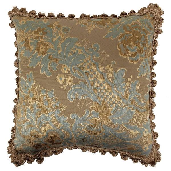 Mina victory blue floral 20 x 20 inch decorative pillow by nourison