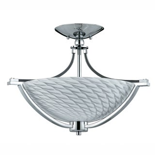 Contemporary 3-light Polished Chrome Flush Mount
