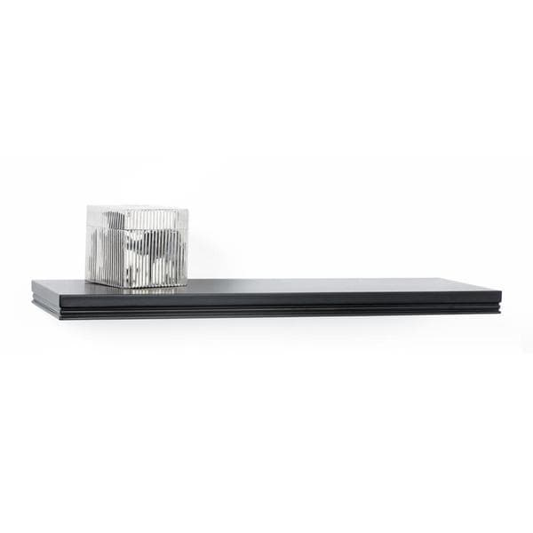 Classic Black Decorative Wall Mount Floating 24-inch Shelf