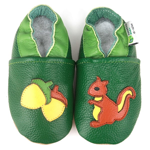 Squirrel Soft Sole Leather Baby Shoes