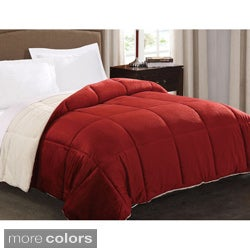 Faux Fur Reversible Down Alternative Comforter