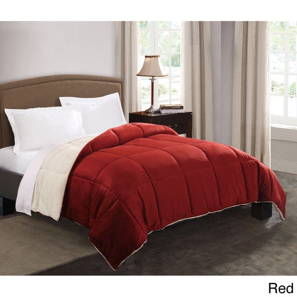 faux fur reversible down alternative comforter 15628135 shopping the best. Black Bedroom Furniture Sets. Home Design Ideas