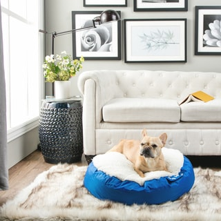 DogSack Big Joe Round Microfiber and Sherpa Dog Bed