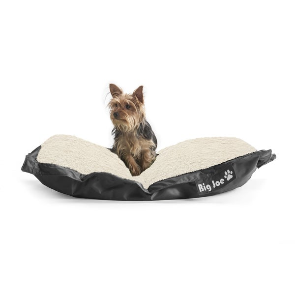 DogSack Big Joe Rectangle Black Med / X-Large Microfiber and Sherpa Pet Bed