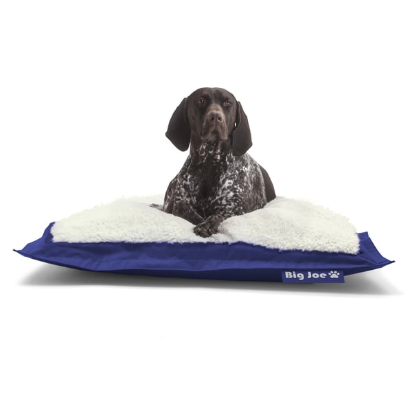 DogSack Big Joe Royal Blue Microfiber/Sherpa Rectangle Pet Bed