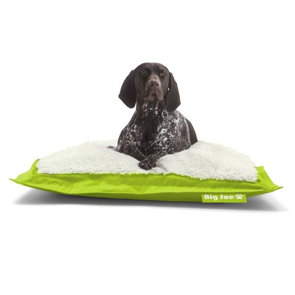 DogSack Big Joe Rectangle Lime Green Med / X-Large Microfiber and Sherpa Pet Bed