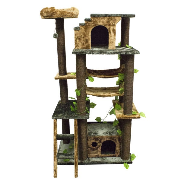 Kitty Mansions Mini-Amazon Green Cat Tree Furniture