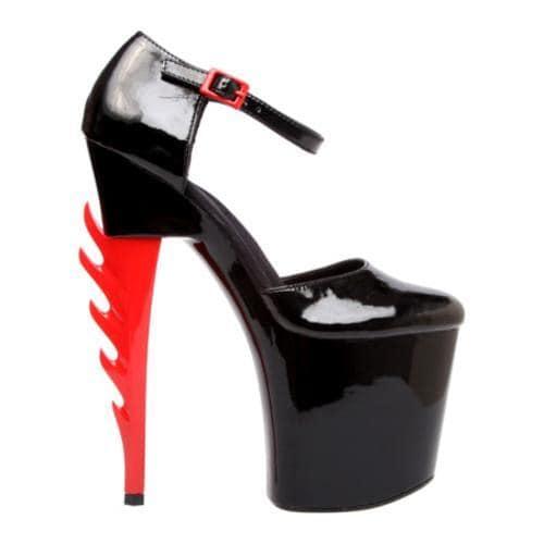 Women's Highest Heel Inferno-31 Black Bottom