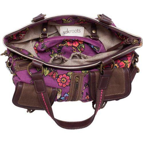 Women's Sakroots Artist Circle Utility Bag Berry True Love