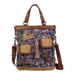 Women's Sakroots Artist Circle Utility Bag Sapphire Treehouse