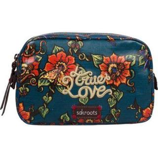 Women's Sakroots Artist Circle Travel Cosmetic Case Lagoon True Love