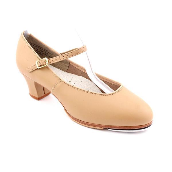 Capezio Women's 'Tap Jr Footlight' Leather Athletic Shoe - Wide (Size 7.5 )