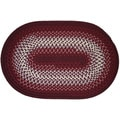 River Texturized Burgundy Area Rug (5' x 8')