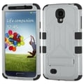 BasAcc Grey/ Black TUFF Hybrid Stand Case for Samsung Galaxy S4