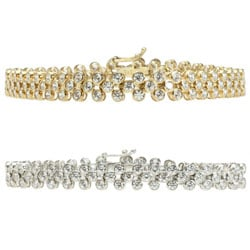 Michael Valitutti Sterling Silver or Gold over Silver Cubic Zirconia Bracelet