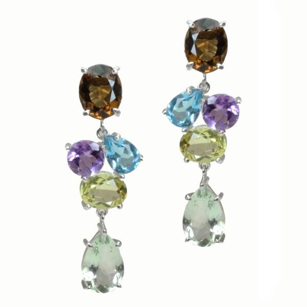 Michael Valitutti Sterling Silver Multi-Stone Earrings
