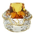 Michael Valitutti Two-tone Amber, Madiera Citrine and Yellow Sapphire Ring