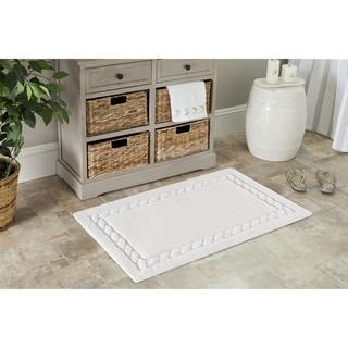 Safavieh White Cable Plush Bath Mats (27 x 45) (Set of 2)