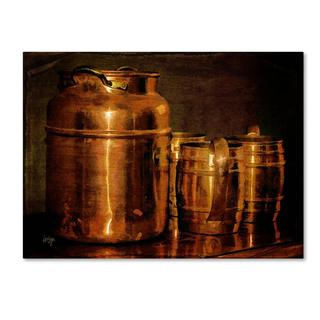 Lois Bryan 'Copper Jugs' Canvas Art