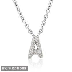 Molly and Emma Sterling Silver Children's CZ Initial Necklace