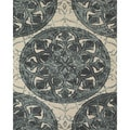 Serra Medallion Blue Area Rug (5' x 8')