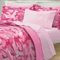 Geo Camo Pink 7-piece Bed in a Bag with Sheet Set