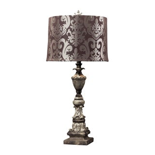 Dimond Lighting 1-Light Herringbone Finish Table Lamp