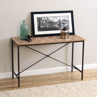 Chevron Cross Design Sofa Table