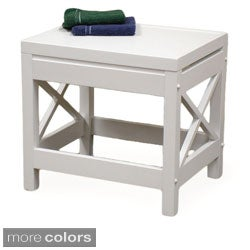 RiverRidge X-Frame Bathroom Stool