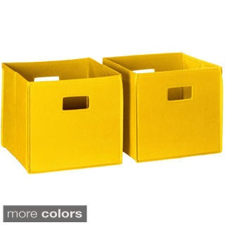 RiverRidge Kids Folding Storage Bins (Set of 2)
