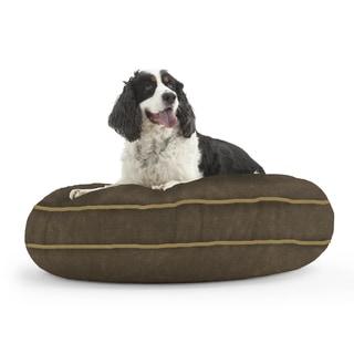 DogSack Round Memory Foam Espresso Brown Micro-suede Pet Bed