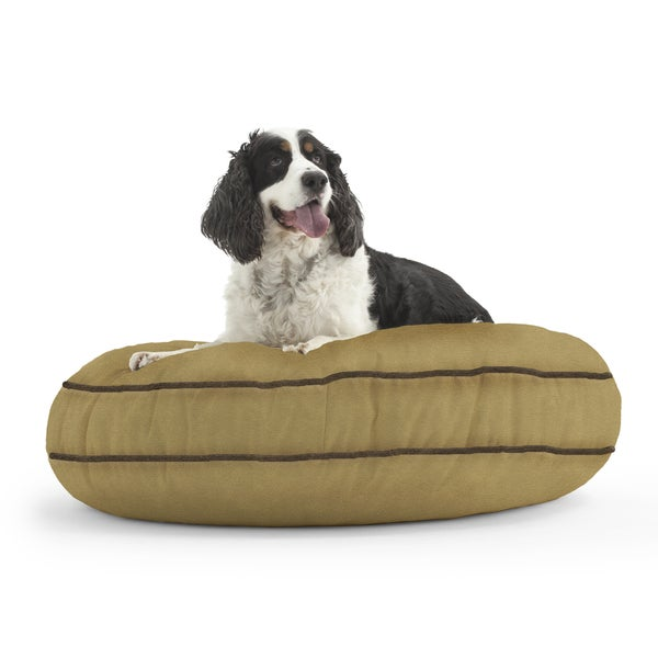 DogSack Round Memory Foam Tan Microsuede Pet Bed