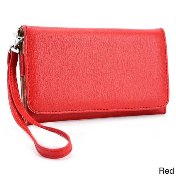 Kroo Clutch Wallet with Wristlet for Smartphones up to 6""