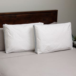Hotel Madison 300 Thread Count Twill Quilted Down Alternative Pillow (Set of 2)