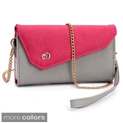 Kroo Clutch Wallet with Wristlet and Shoulder Straps for Smartphone up to 5.5""